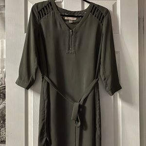 Grey/Green Dress